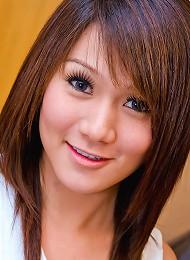 Frisky Asian t-girl Mina plays with her extra tool